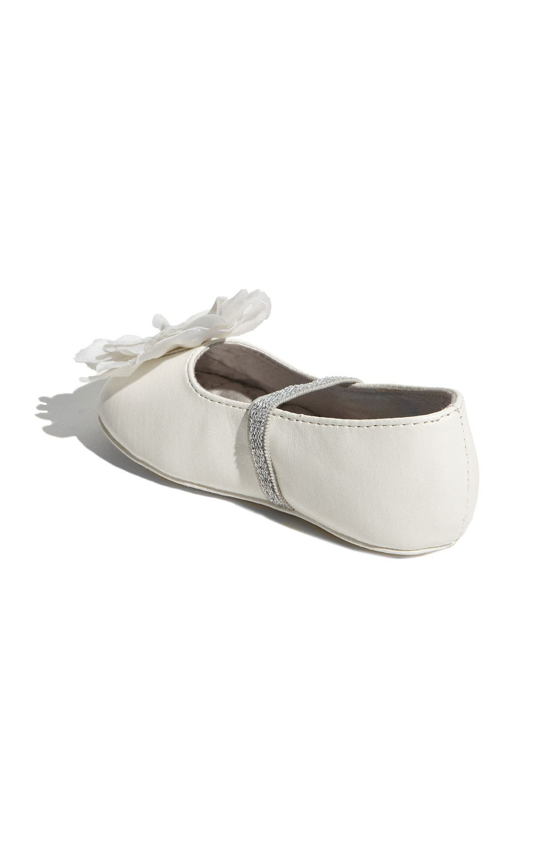 'Baby Bud' Crib Shoe,                             Alternate thumbnail 2, color,                             White