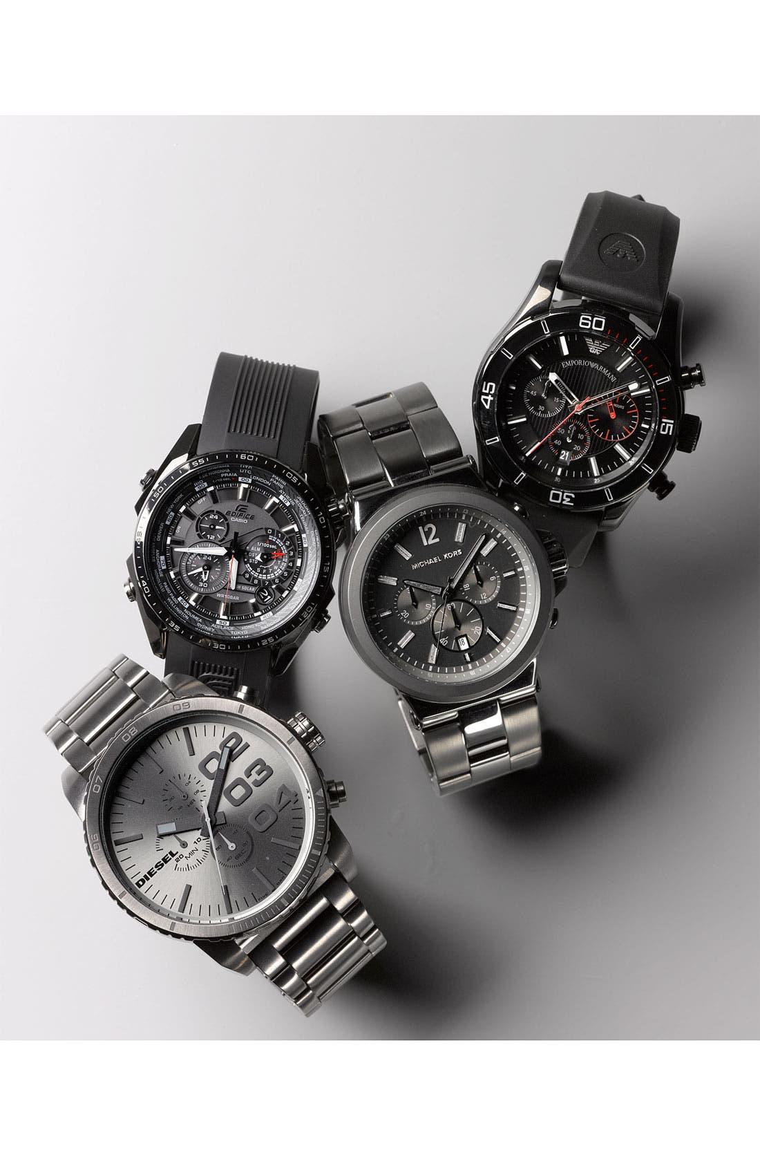 Alternate Image 2  - Michael Kors Large Chronograph Bracelet Watch, 45mm