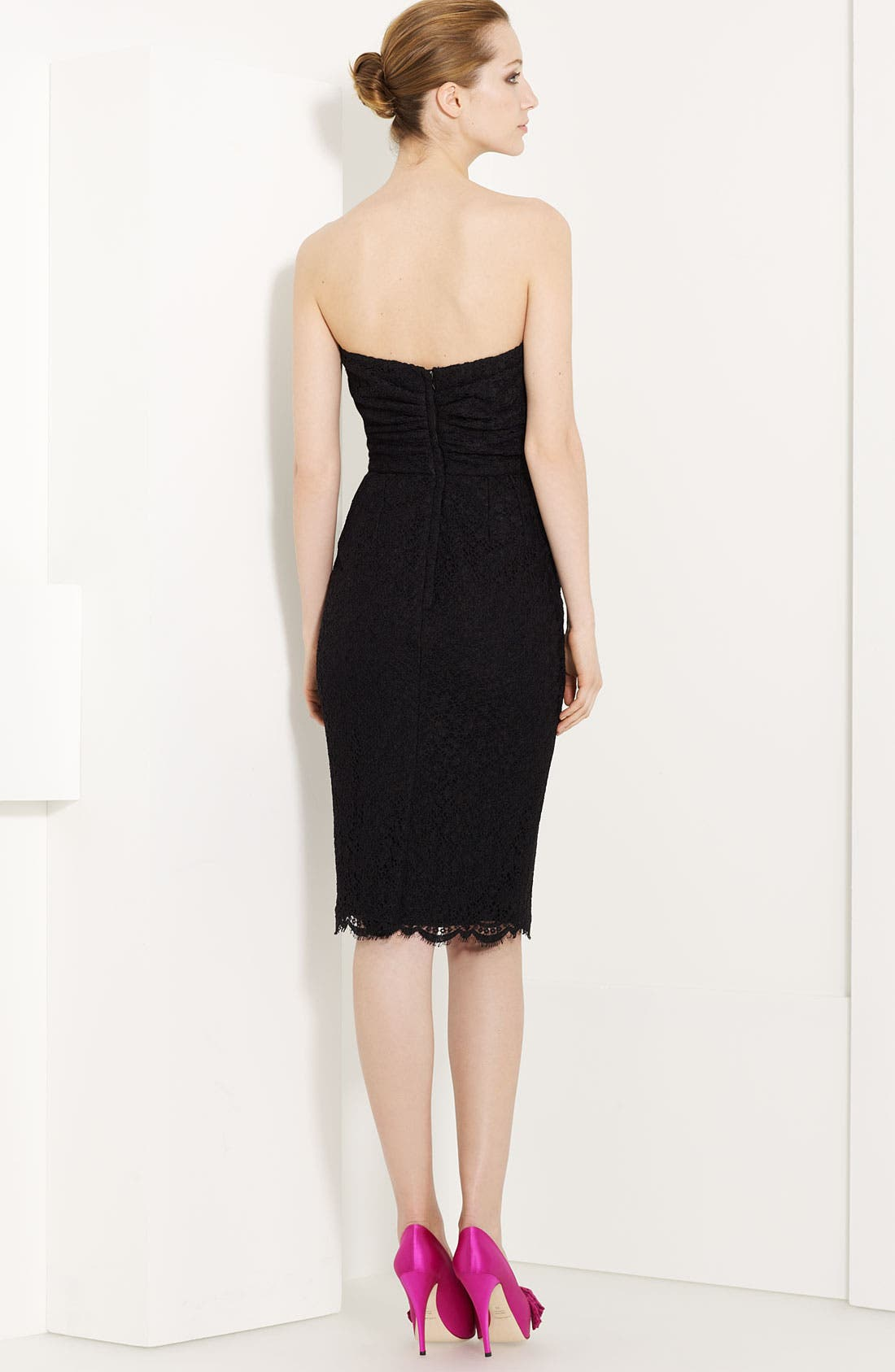 Alternate Image 2  - Dolce&Gabbana Strapless Lace Dress