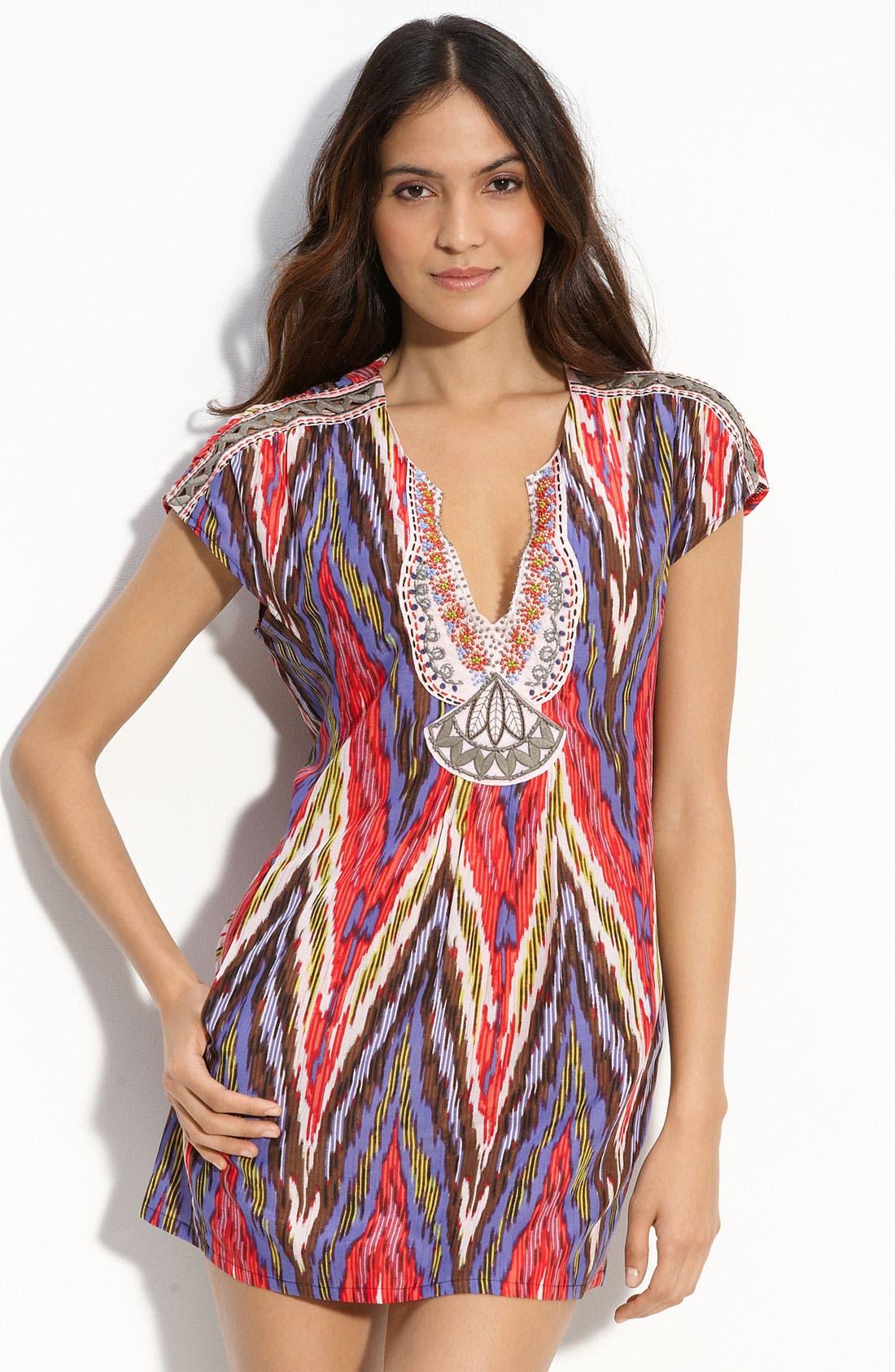 Alternate Image 1 Selected - Nanette Lepore Ikat Print Cover-Up Dress