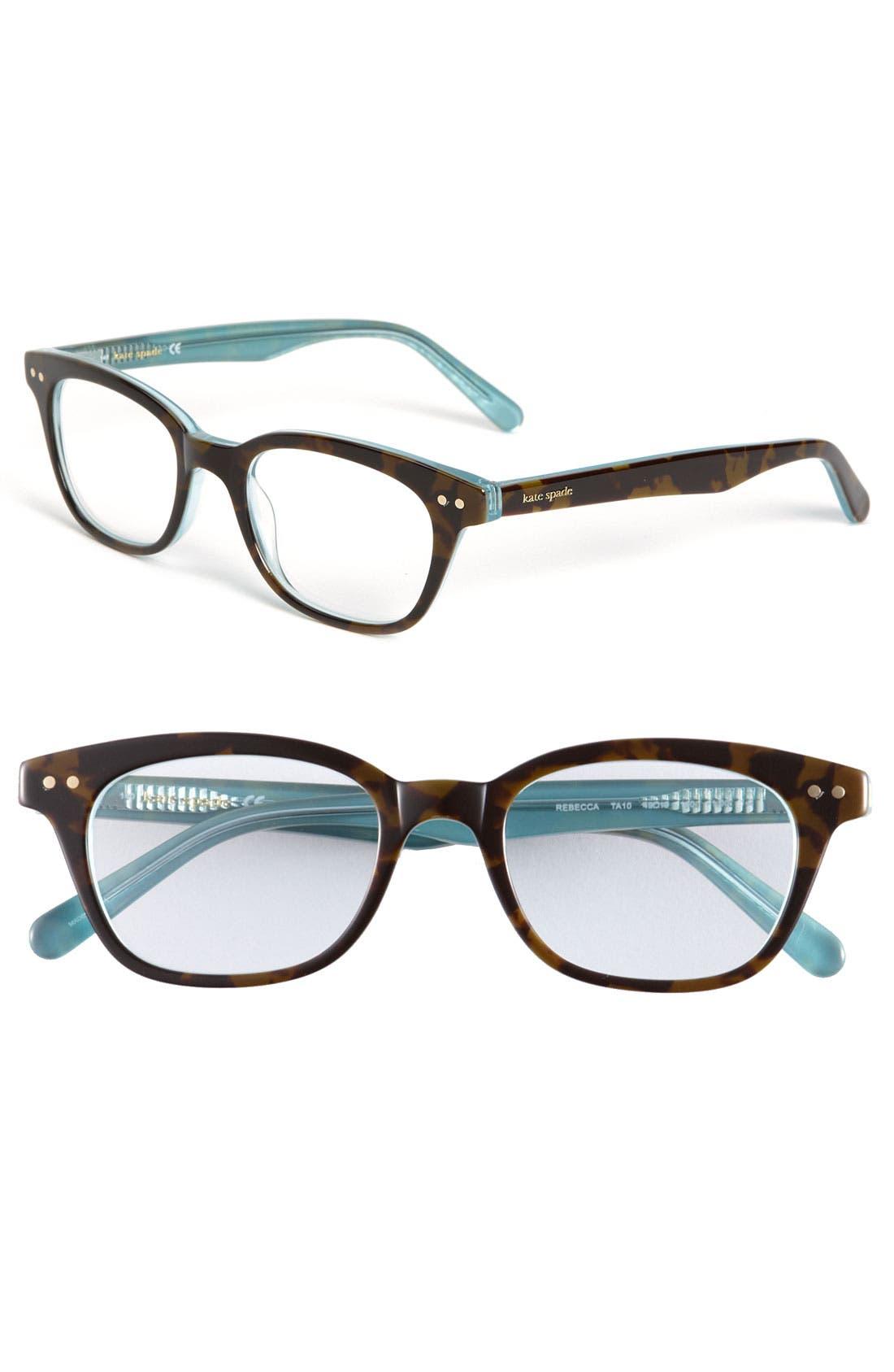 Rebecca 49Mm Reading Glasses - Tortoise Aqua