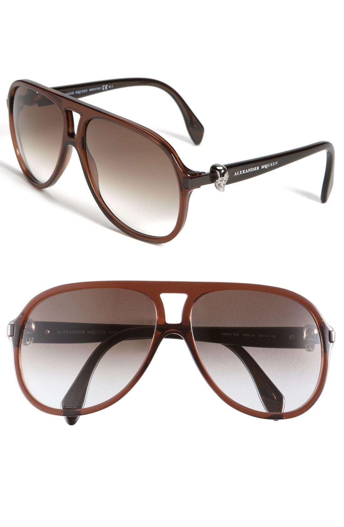 Alternate Image 1 Selected - Alexander McQueen Aviator Sunglasses