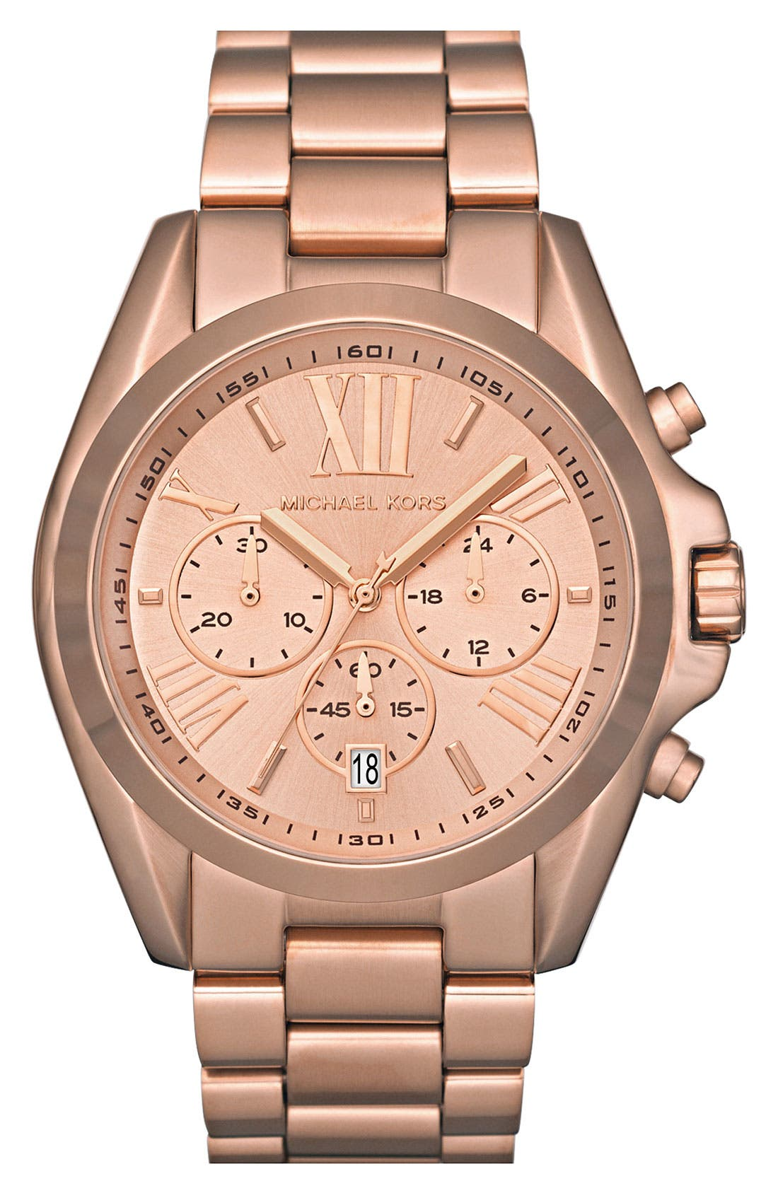 Bradshaw Chronograph Bracelet Watch, 43mm,                         Main,                         color, Rose Gold
