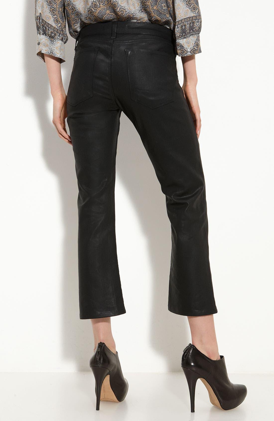 'Gigi' Coated Crop Stretch Jeans,                             Alternate thumbnail 2, color,                             Turbulent