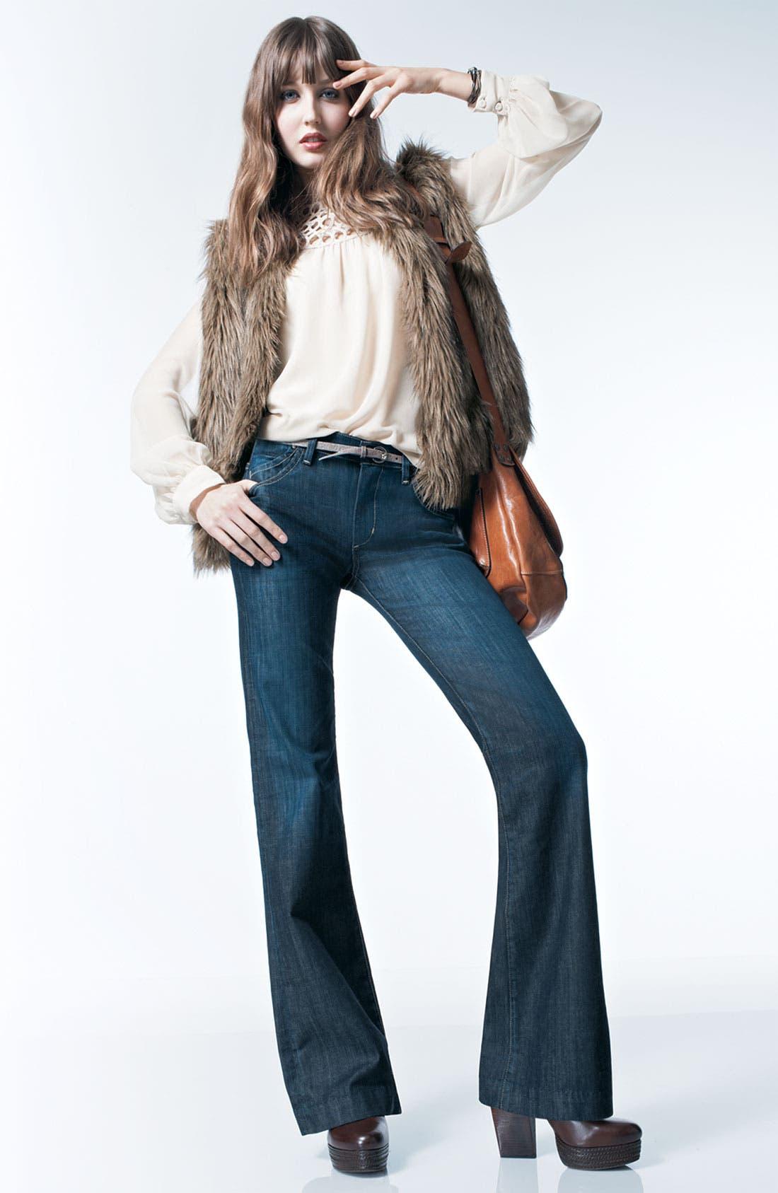 'Natalie' Faux Fur Vest,                             Alternate thumbnail 3, color,