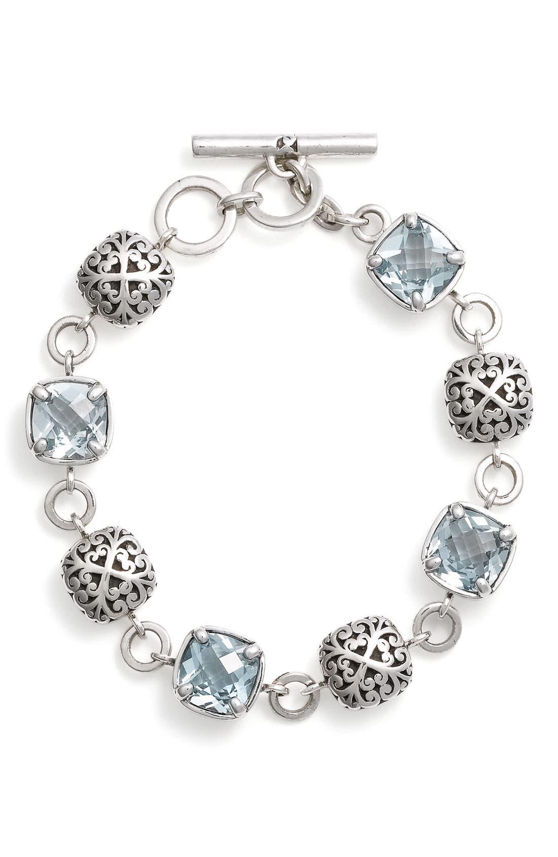 Main Image - Lois Hill 'Sky Blue Topaz' Toggle Bracelet