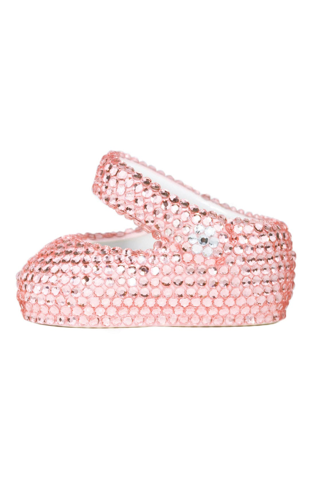 Main Image - Trumpette Rhinestone Keepsake Shoe (Girls)