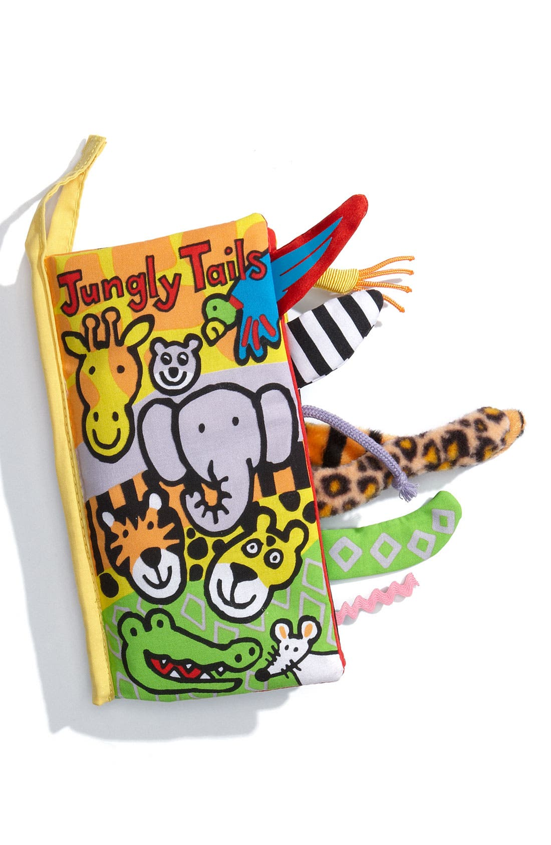 'Jungly Tails' Cloth Book,                             Main thumbnail 1, color,                             Multi