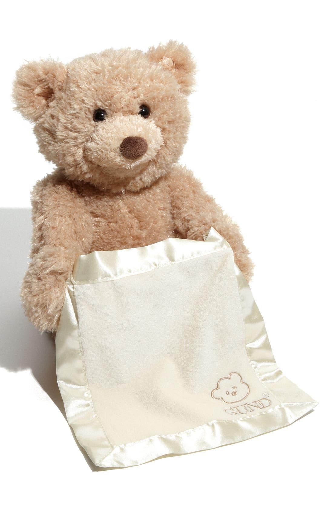 Baby Gund 'Peekaboo' Bear,                         Main,                         color, No Color