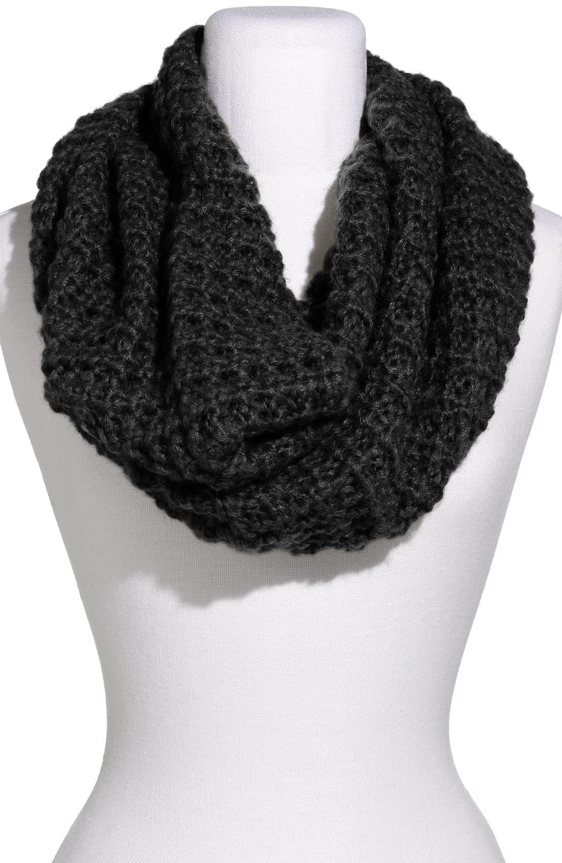 Main Image - Frenchi® Waffle Knit Infinity Scarf