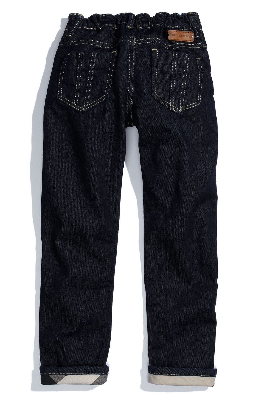 Alternate Image 1 Selected - Burberry Cuff Jeans (Little Girls)