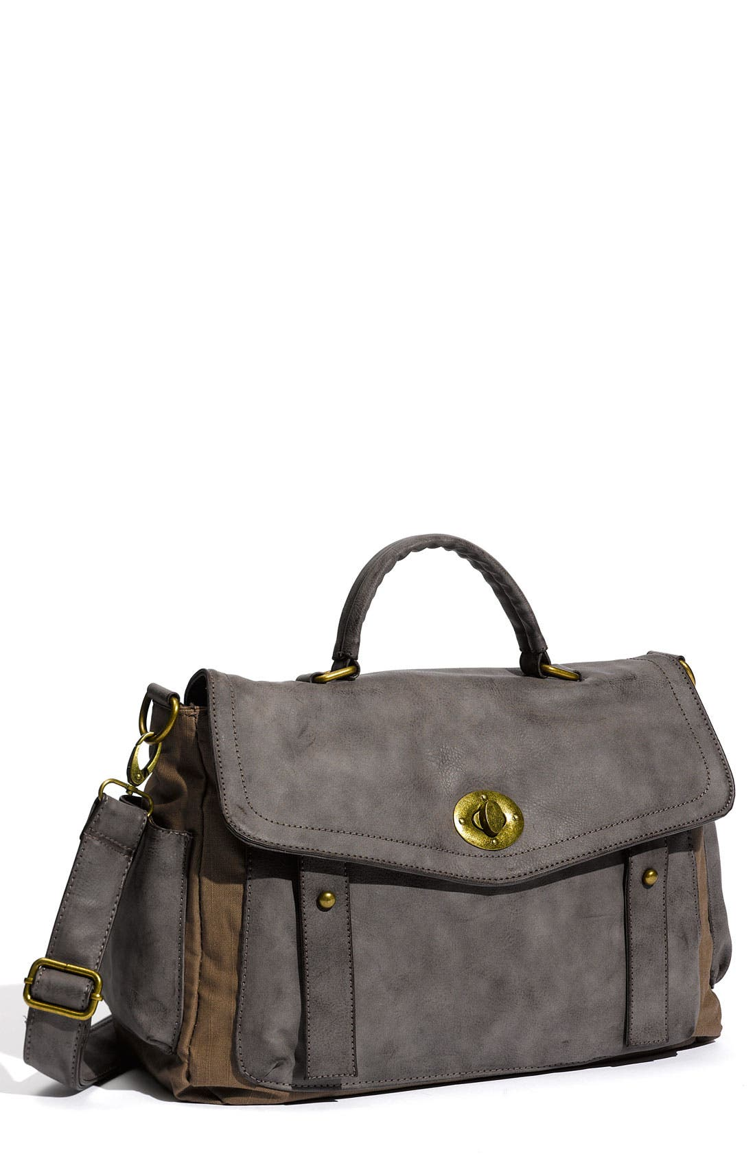 Alternate Image 1 Selected - Cesca Vintage Weathered Faux Leather Satchel