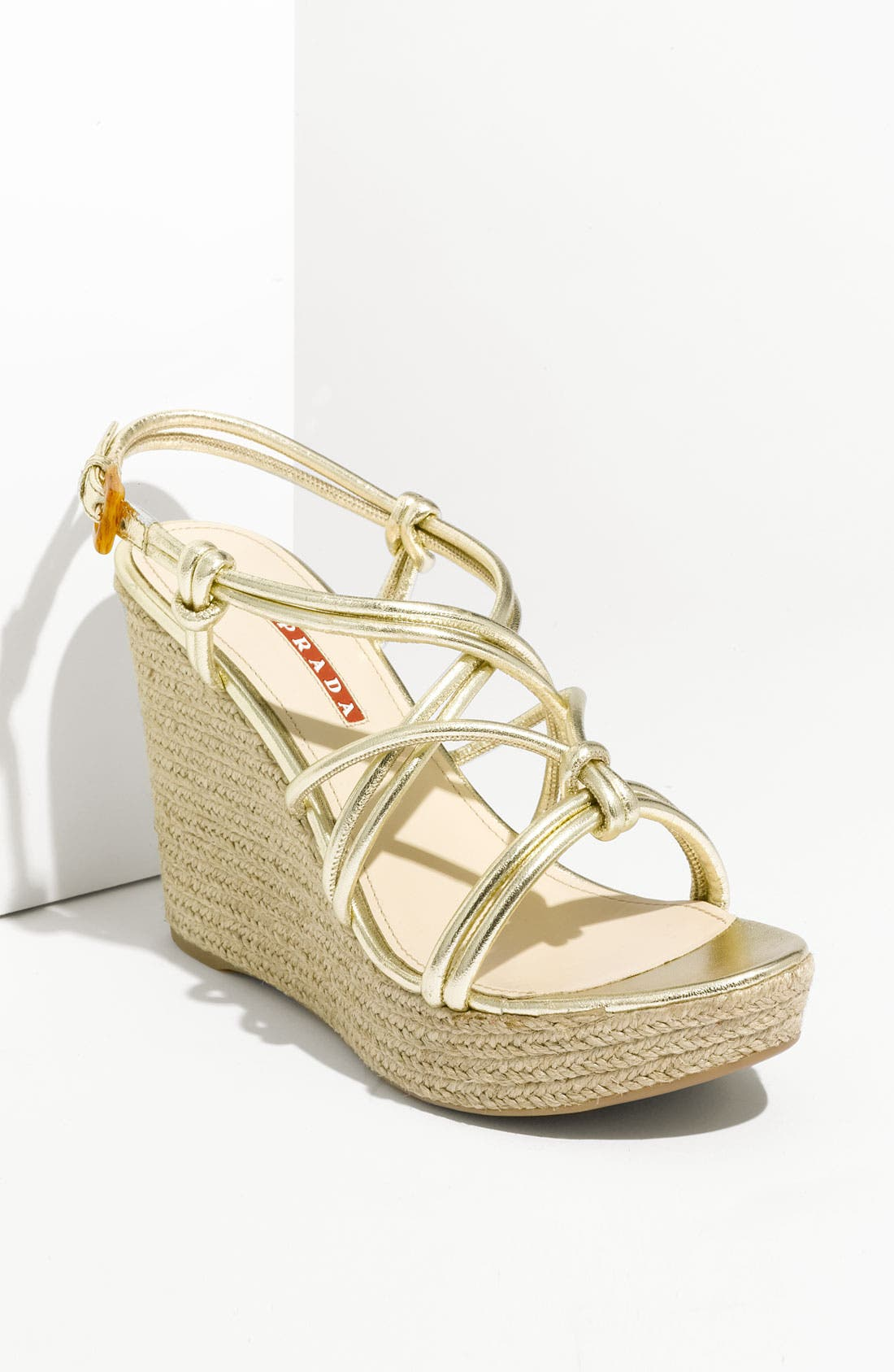 Alternate Image 1 Selected - Prada Tubular Strap Wedge Sandal