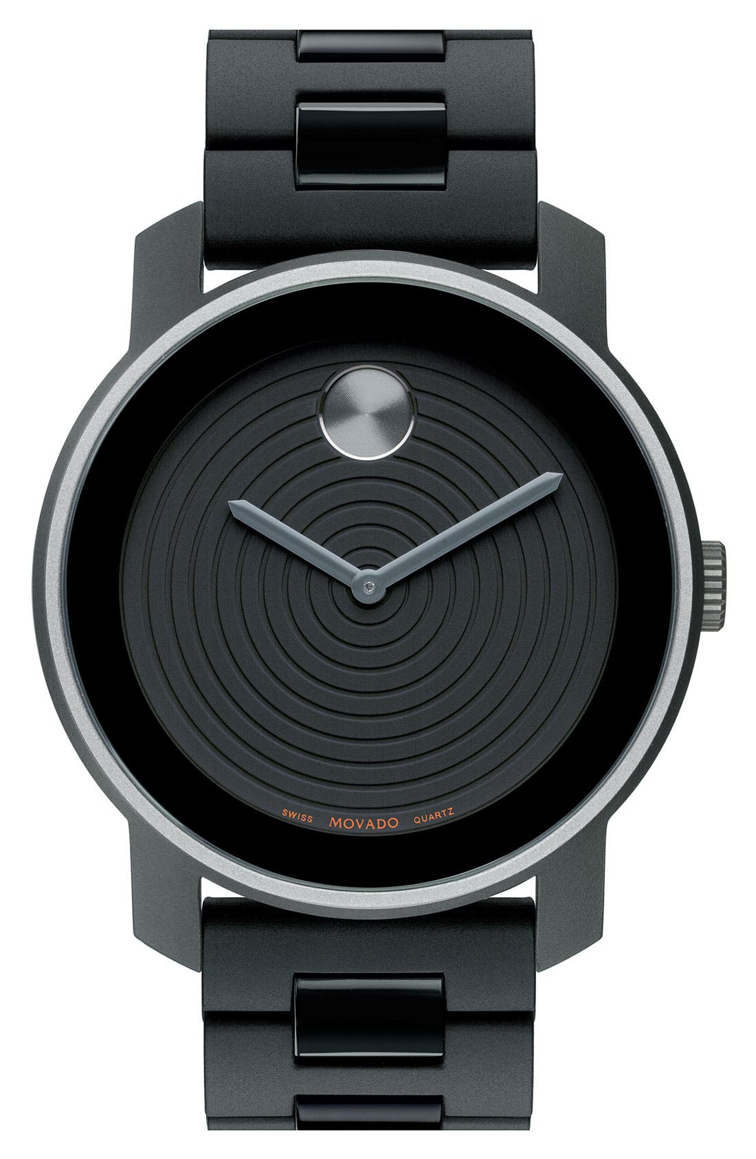 Alternate Image 1 Selected - Movado 'Large Bold' Aluminum Case & Silicone Strap Watch