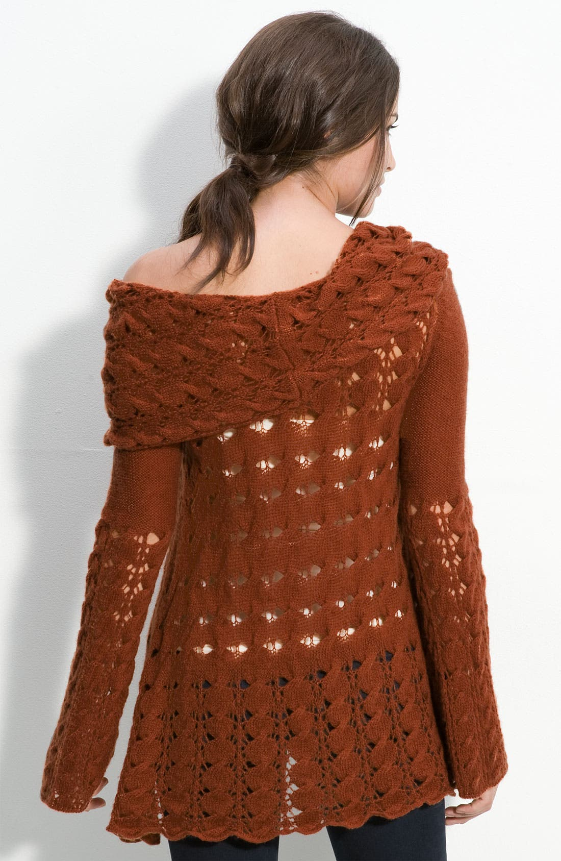 Alternate Image 2  - Free People 'Snuggle Bear' Cabled Cowl Neck Pullover