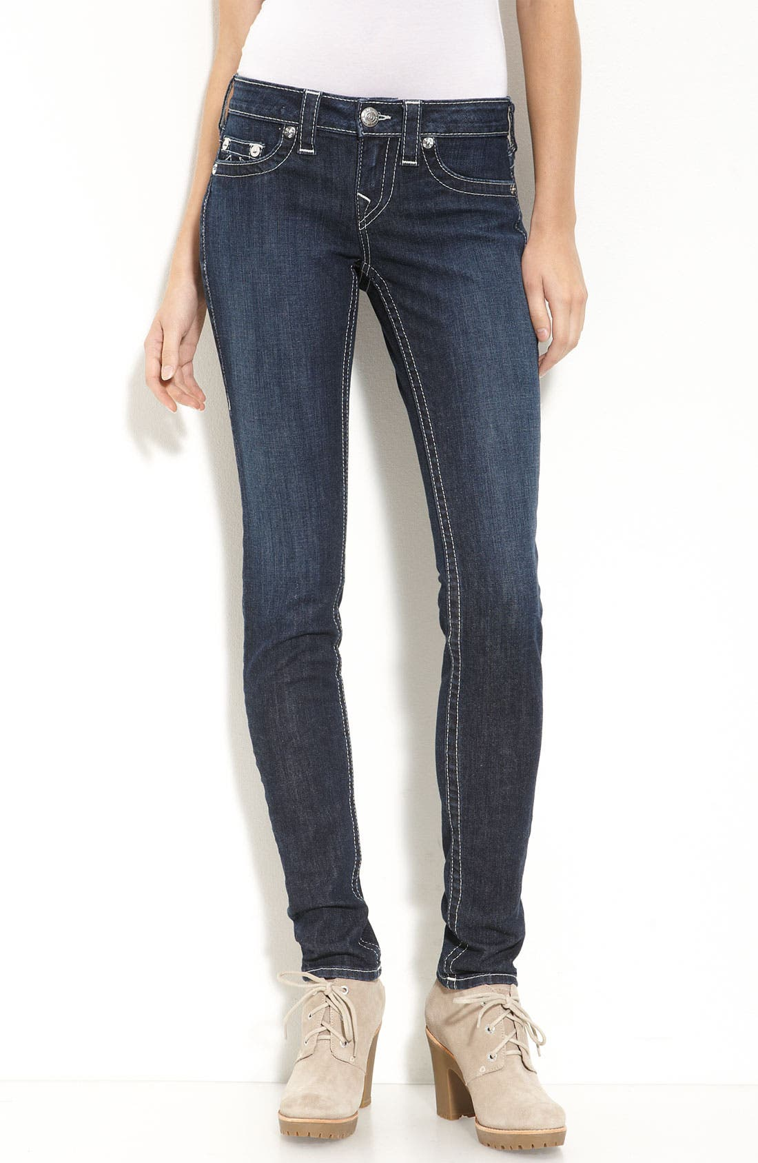 Alternate Image 1 Selected - True Religion Brand Jeans Skinny Jeans (Lonestar Wash)