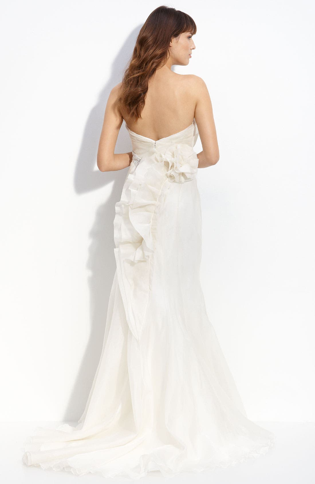 Alternate Image 2  - Carmen Marc Valvo 'Charlize' Organza Gown