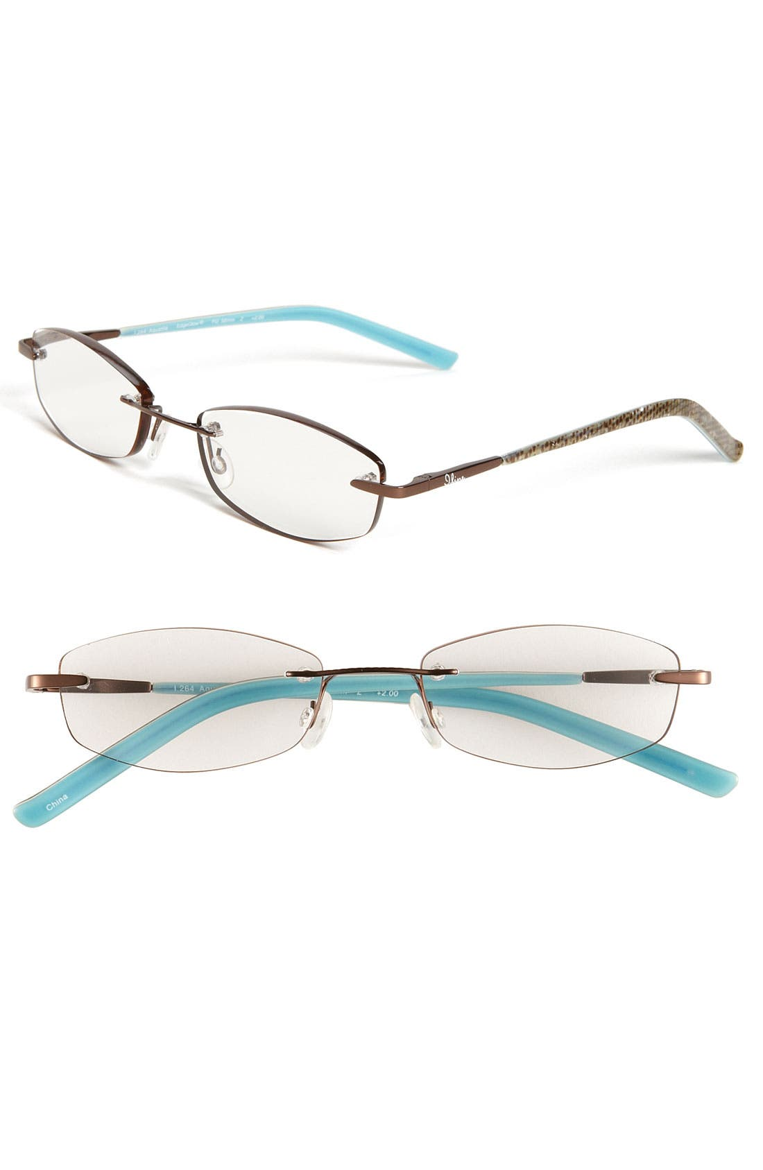 Alternate Image 1 Selected - I Line Eyewear 'Aquatile' EdgeGlow® Reading Glasses