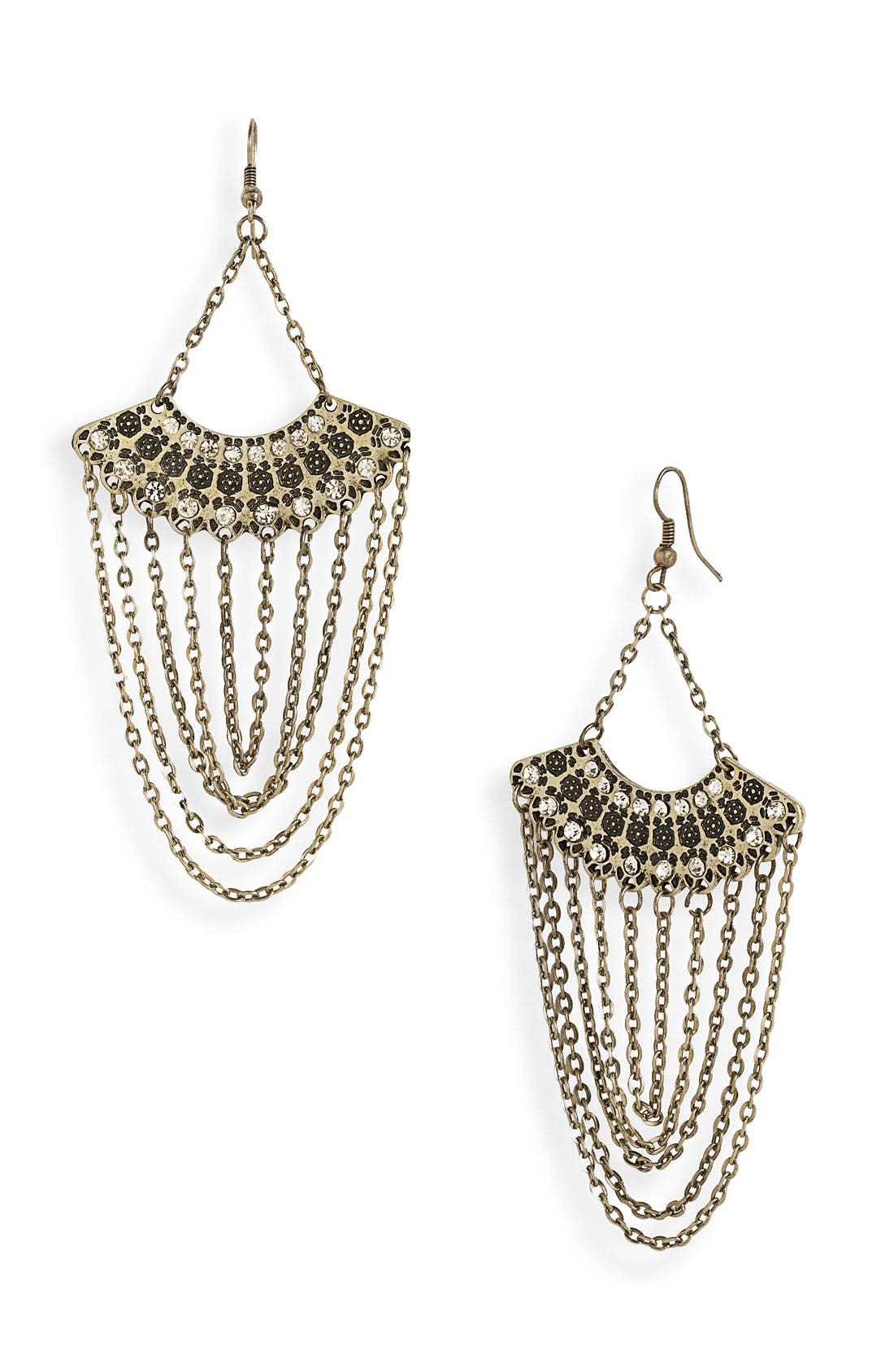 Alternate Image 1 Selected - Stephan & Co. Fan & Chain Earrings