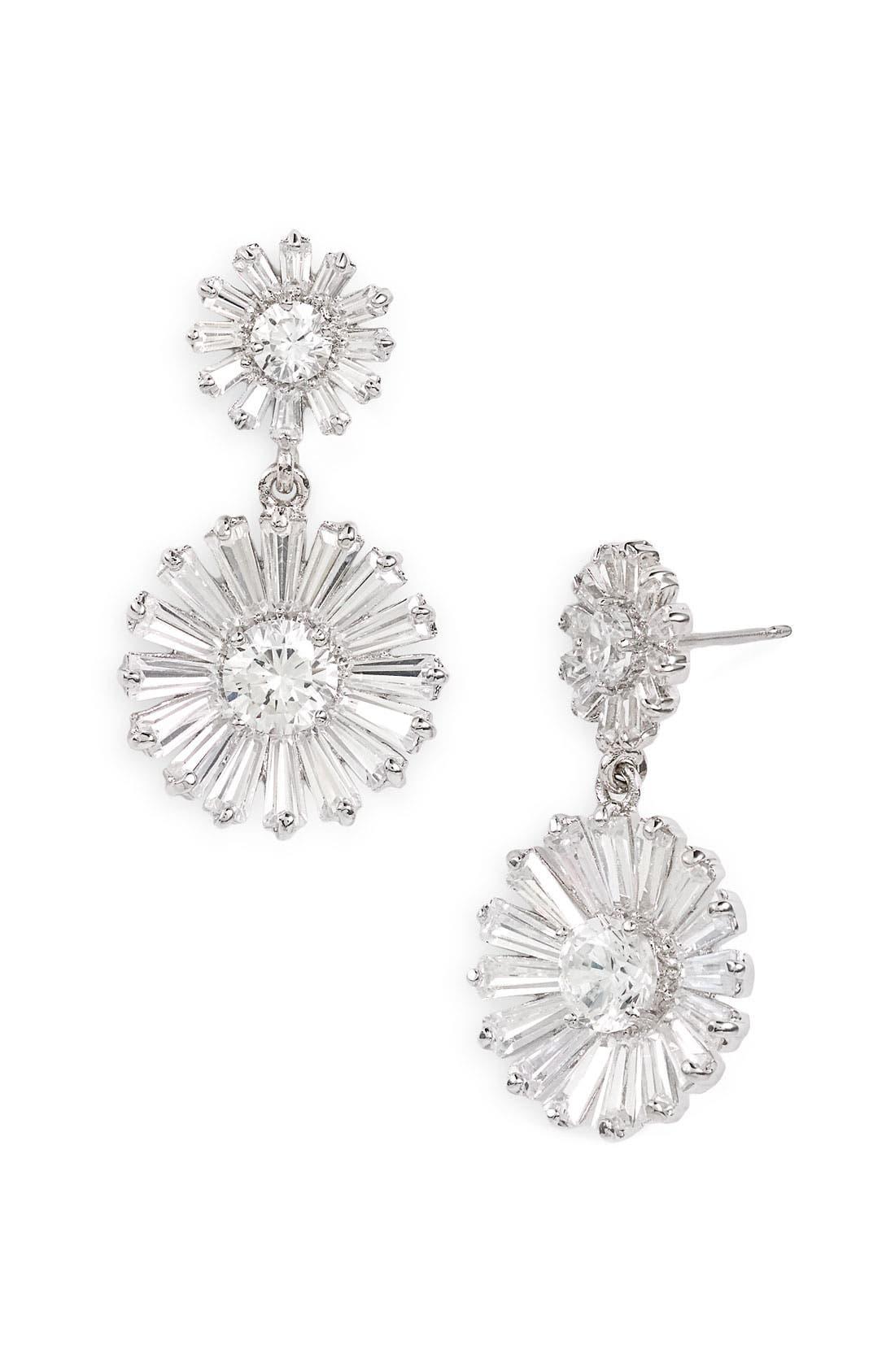 Main Image - kate spade new york 'crystal gardens' drop earrings