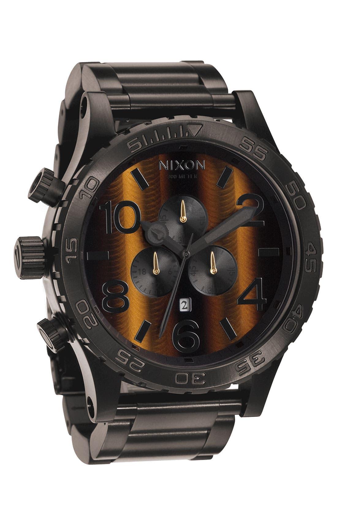 Alternate Image 1 Selected - Nixon 'The 51-30 Chrono Tiger's-Eye' Watch