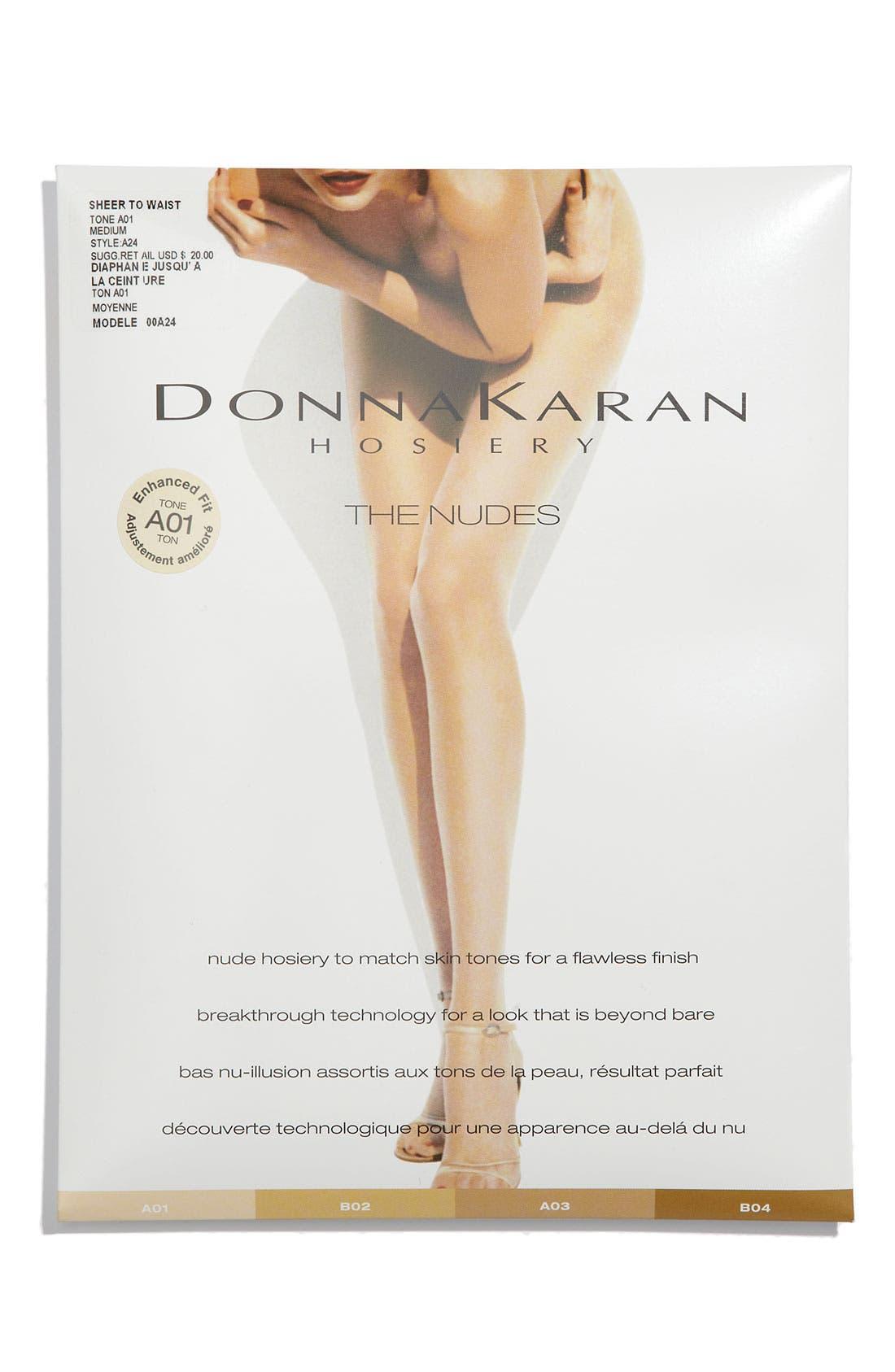 Alternate Image 2  - Donna Karan 'The Nudes' Sheer to Waist Hosiery