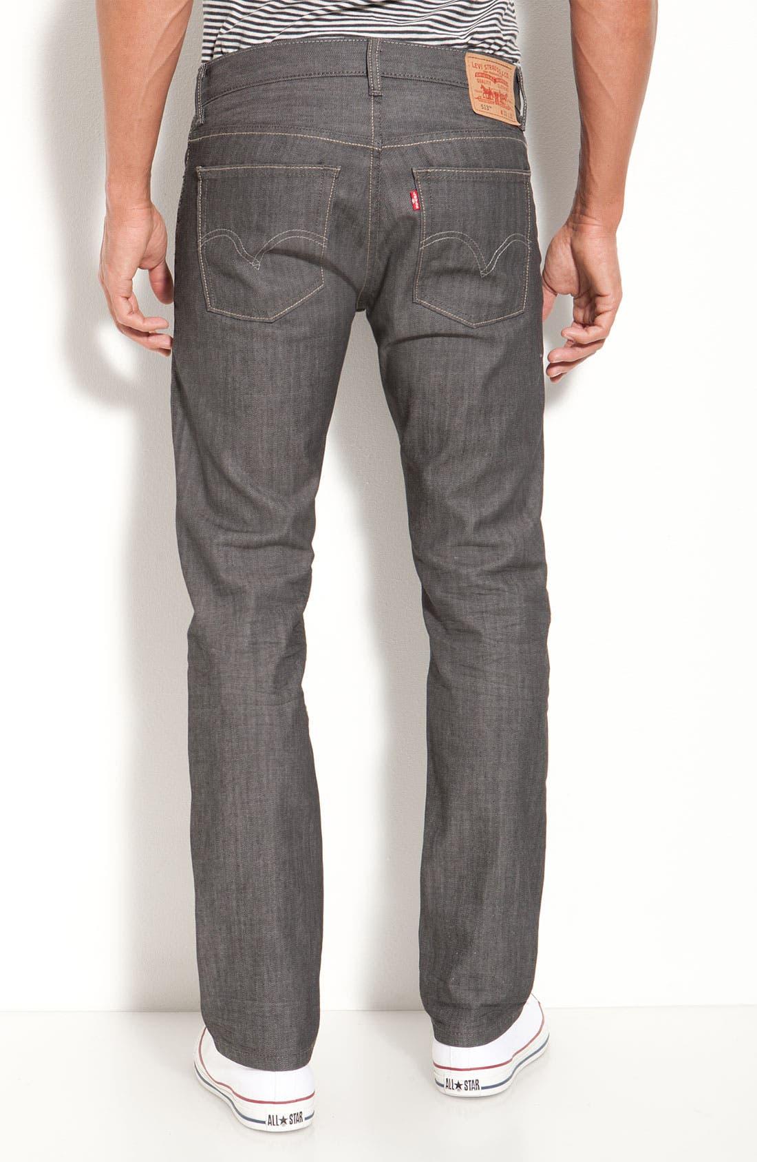 Alternate Image 1 Selected - Levi's® '513™' Slim Fit Jeans (Moulded Slate)