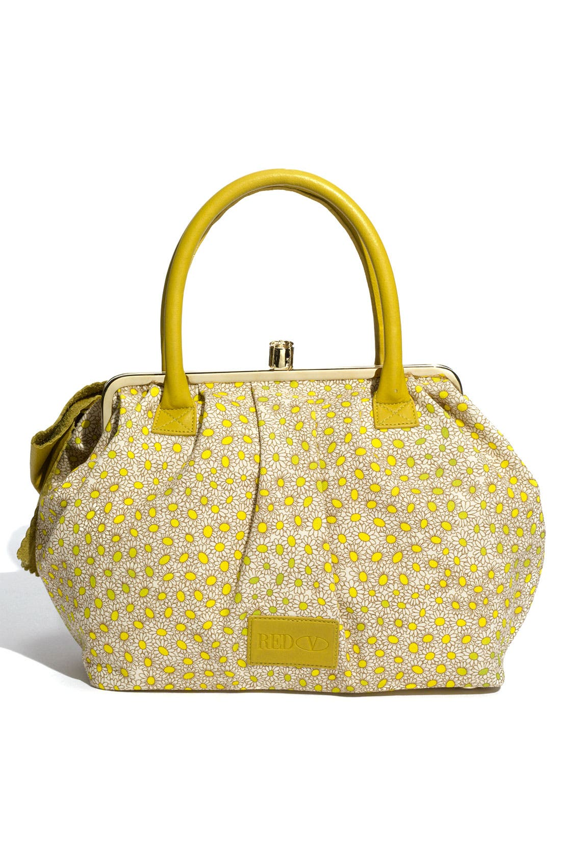 Alternate Image 4  - RED Valentino 'Bow - Daisy' Print Canvas Satchel