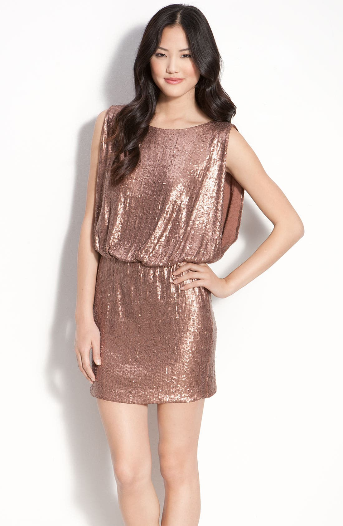 Alternate Image 1 Selected - Laundry by Shelli Segal Bloused Sequin Dress
