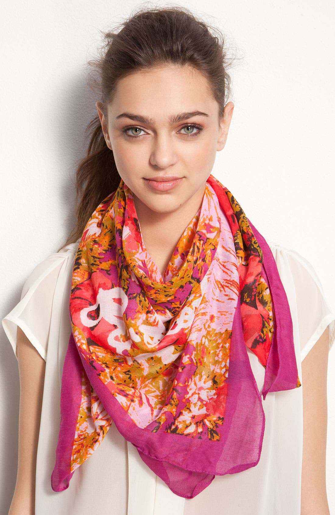 Alternate Image 1 Selected - Made of Me 'Best Friends' Floral Scarf