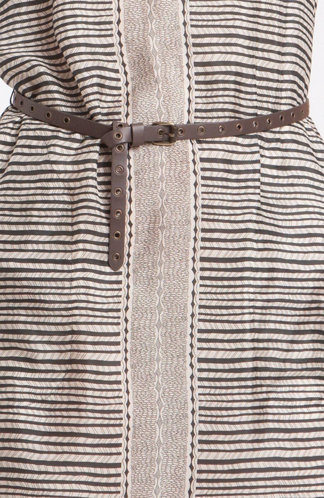 'Gabarra' V-Neck Dress,                             Alternate thumbnail 2, color,                             Black