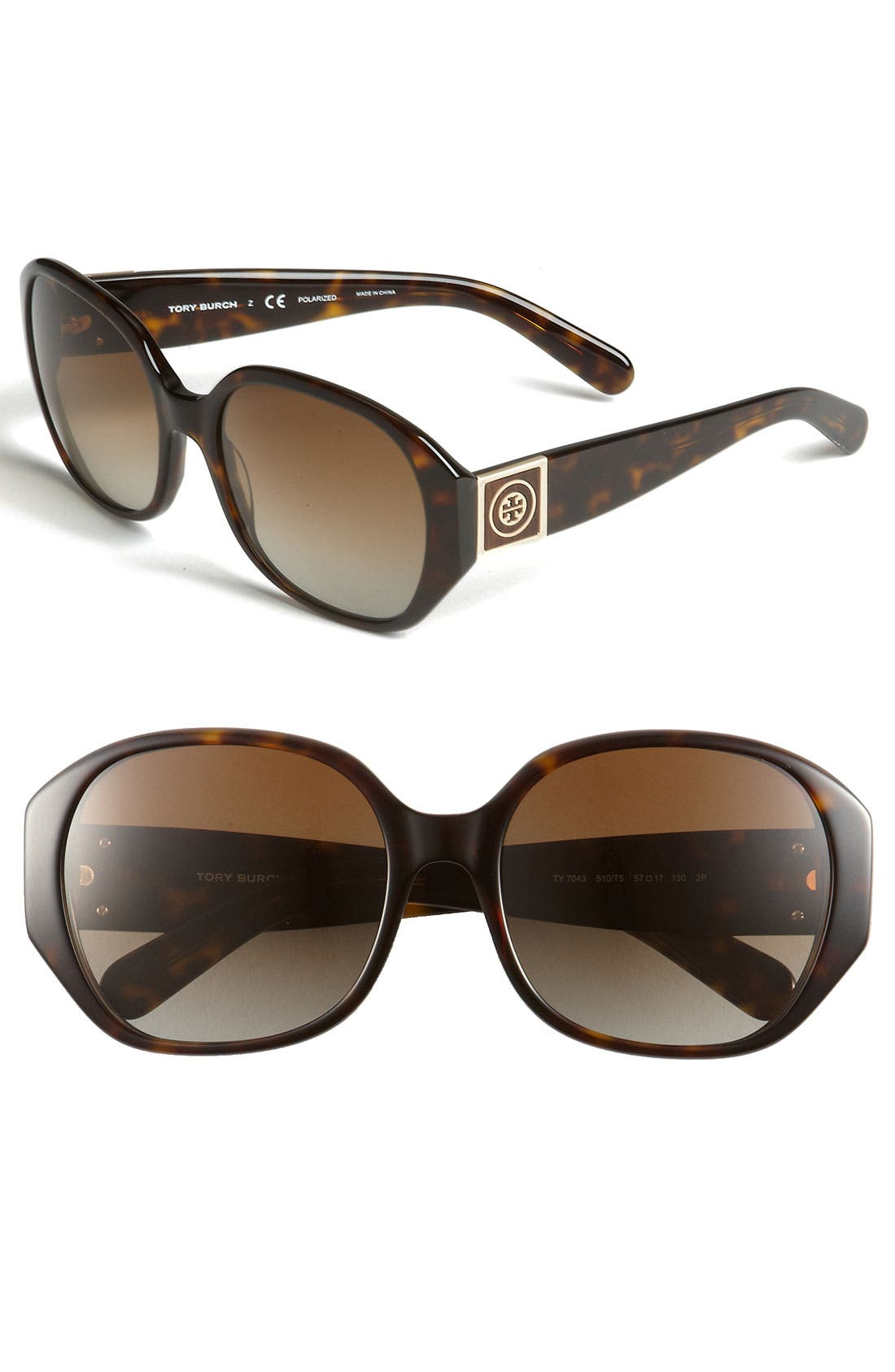 Alternate Image 1 Selected - Tory Burch 57mm Polarized Sunglasses