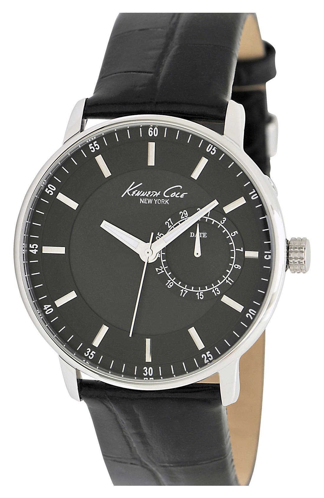 Main Image - Kenneth Cole New York Multifunction Round Dial Strap Watch