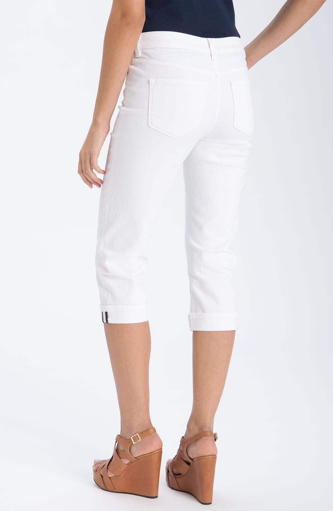 Alternate Image 2  - NYDJ 'Edna' Crop Stretch Jeans