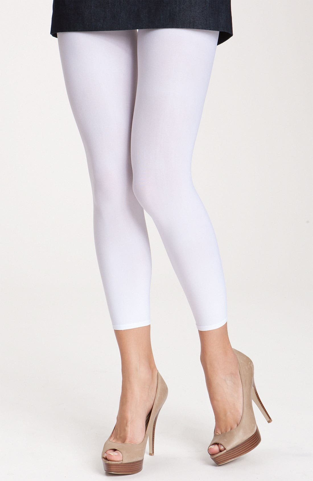 Matte Footless Tights,                         Main,                         color, White