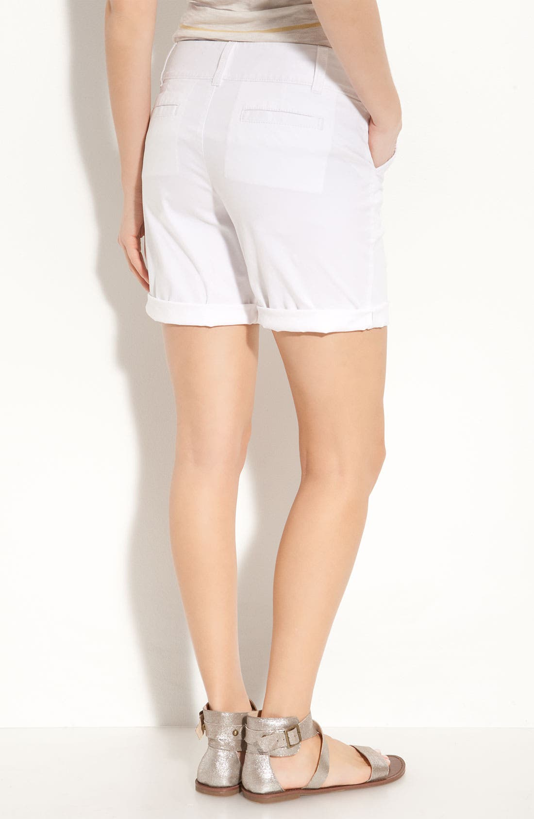 Alternate Image 2  - Caslon® Stretch Twill Shorts (Petite)