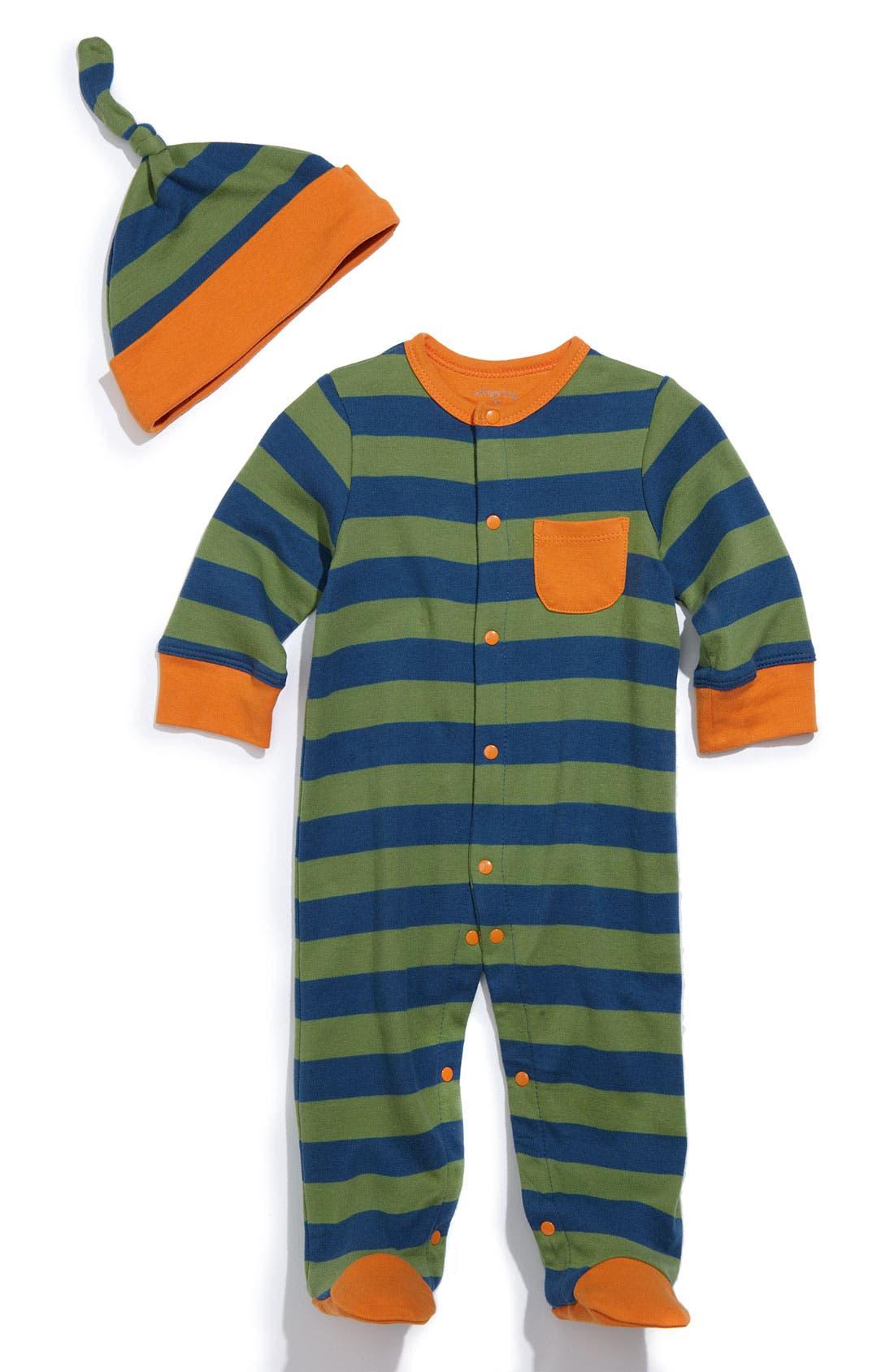 Main Image - Offspring Stripe Footie (Infant)