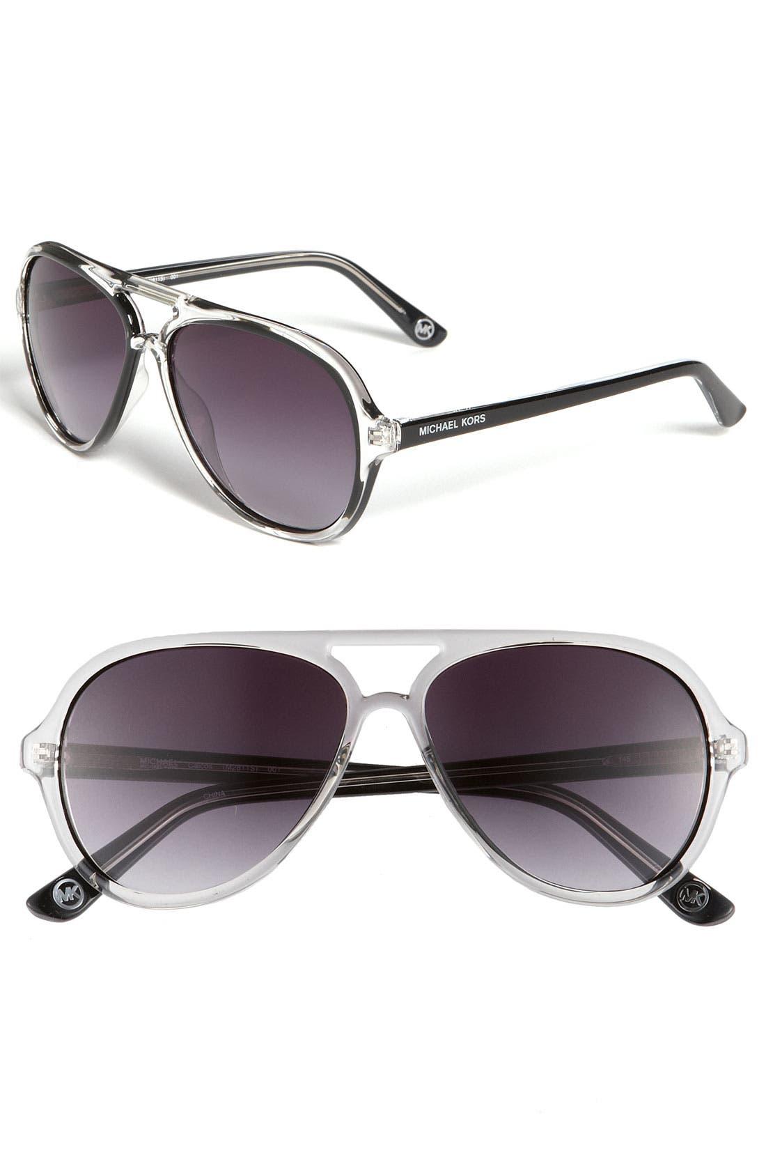 Main Image - MICHAEL Michael Kors 57mm Aviator Sunglasses
