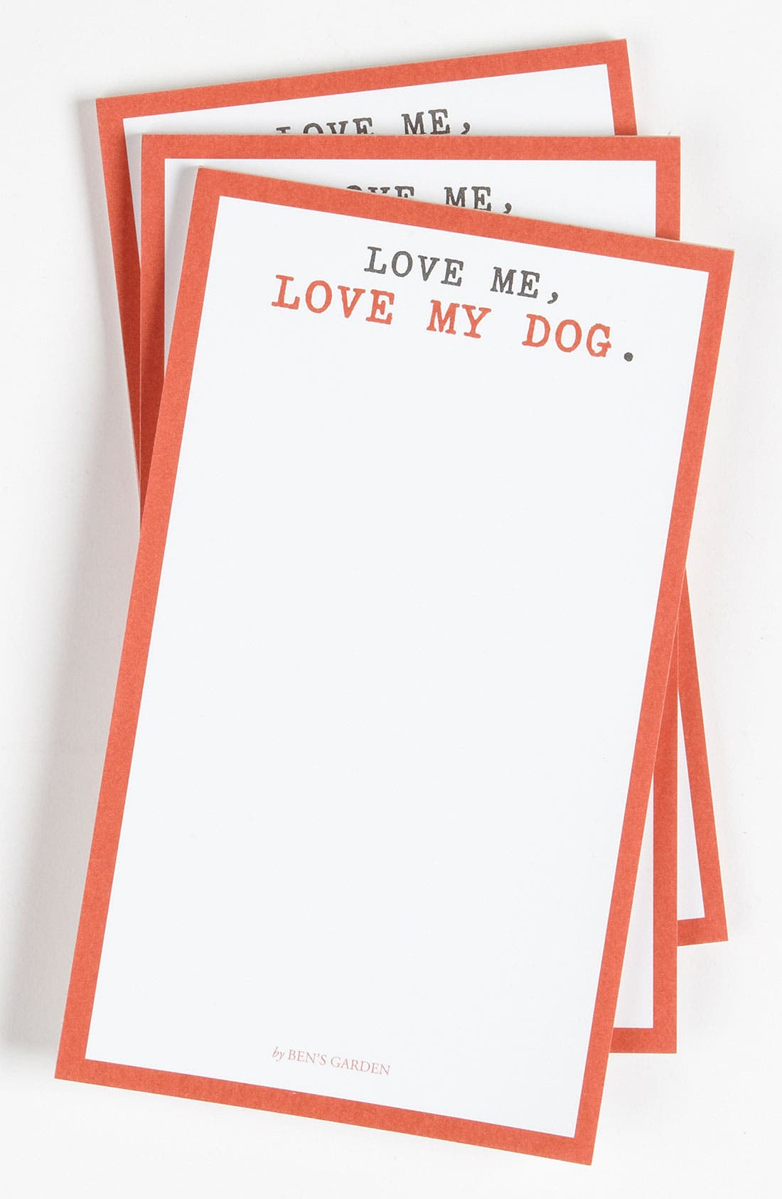 Main Image - Ben's Garden 'Love Me, Love My Dog' Notepads (3-Pack)