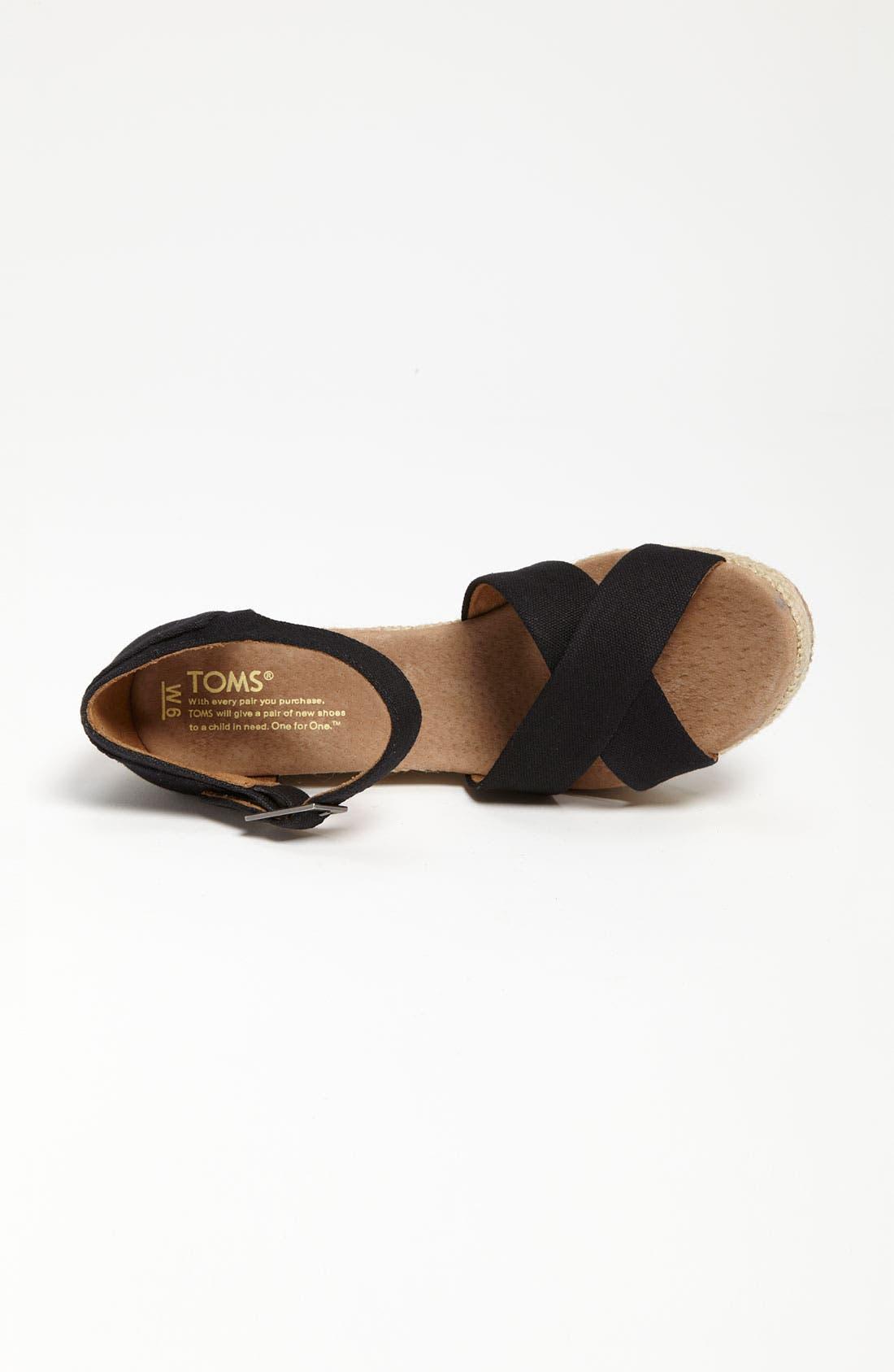 Alternate Image 3  - TOMS Canvas Wedge Sandal