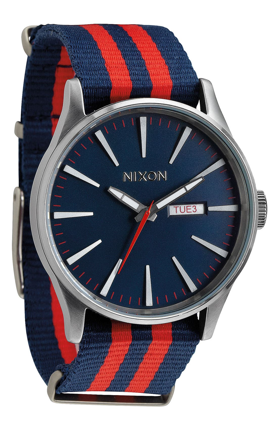 Alternate Image 1 Selected - Nixon 'The Sentry' Nylon Strap Watch