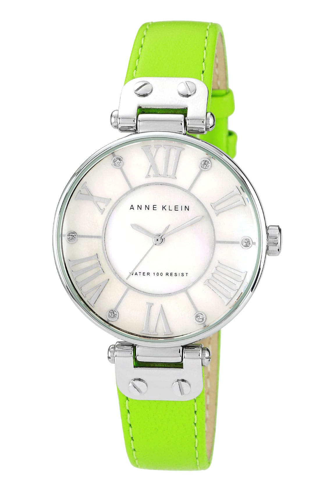 Alternate Image 1 Selected - Anne Klein Round Roman Numeral Watch