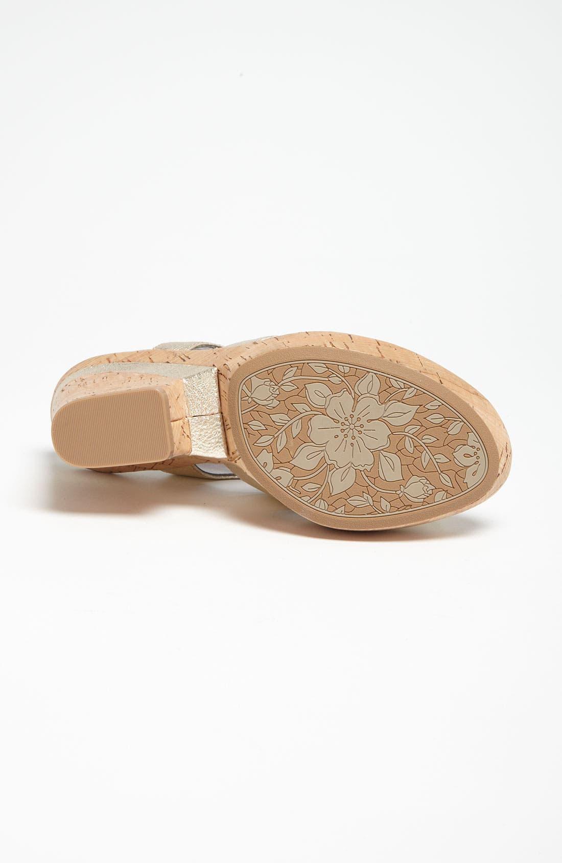 'Odelle' Sandal,                             Alternate thumbnail 4, color,                             Gold