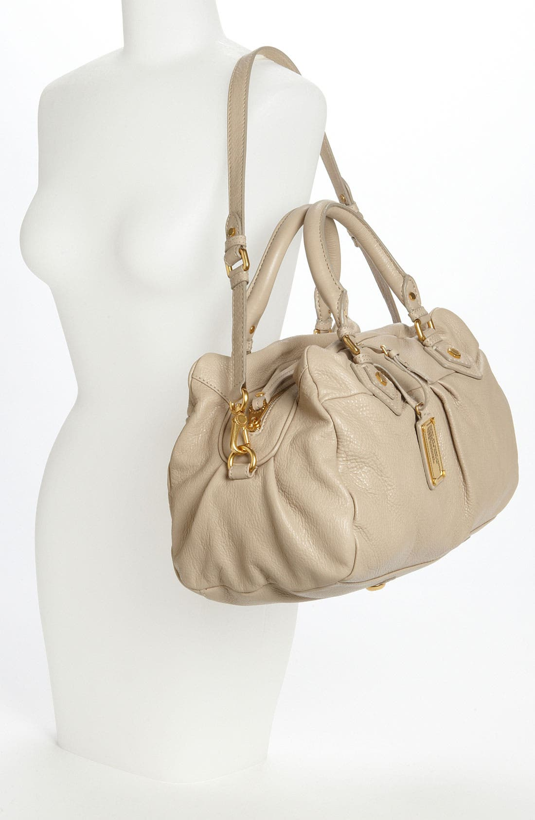 MARC BY MARC JACOBS 'Classic Q - Groovee' Satchel,                             Alternate thumbnail 2, color,                             Creme