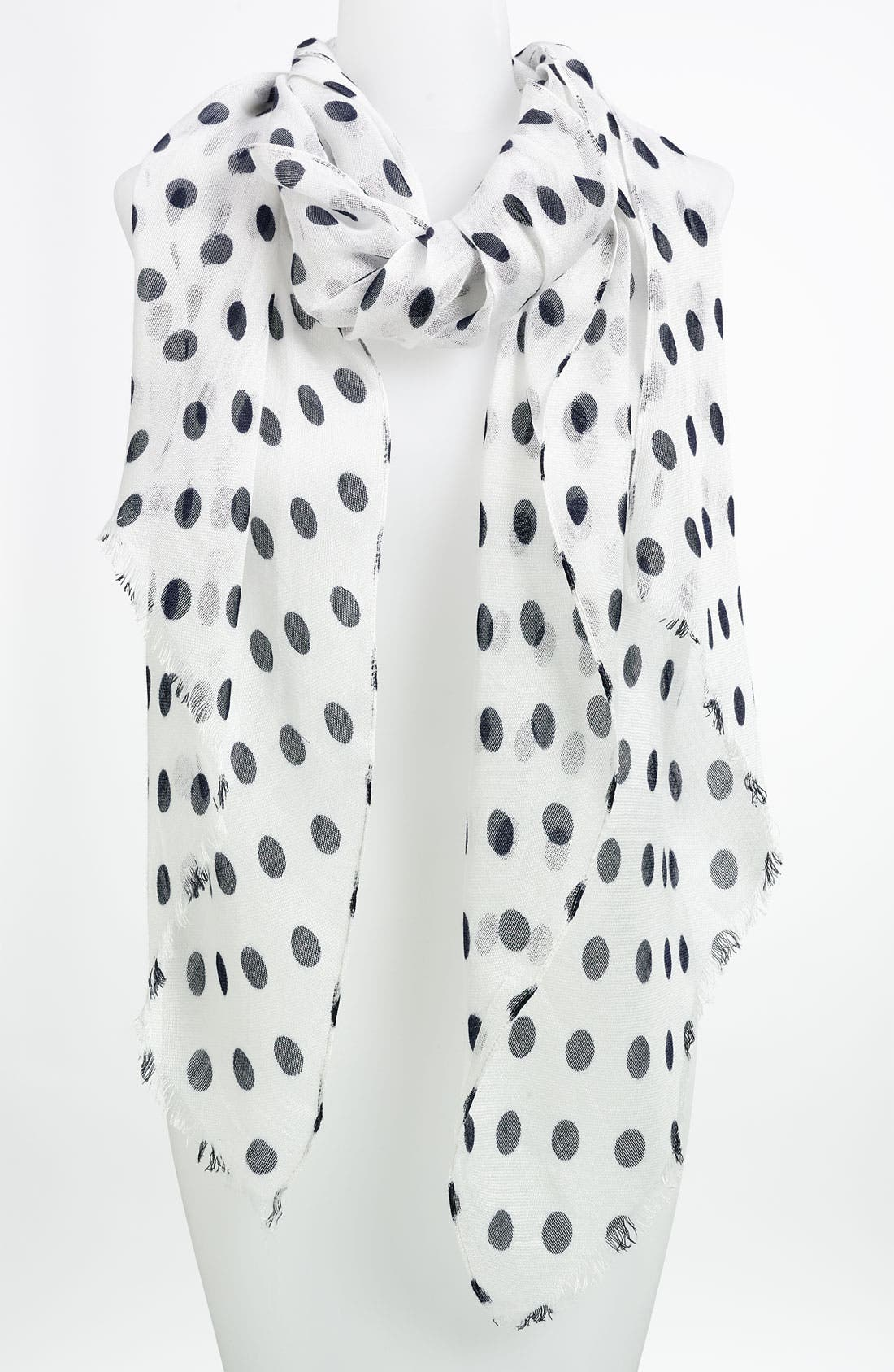 Alternate Image 1 Selected - Lauren Ralph Lauren Polka Dot Scarf