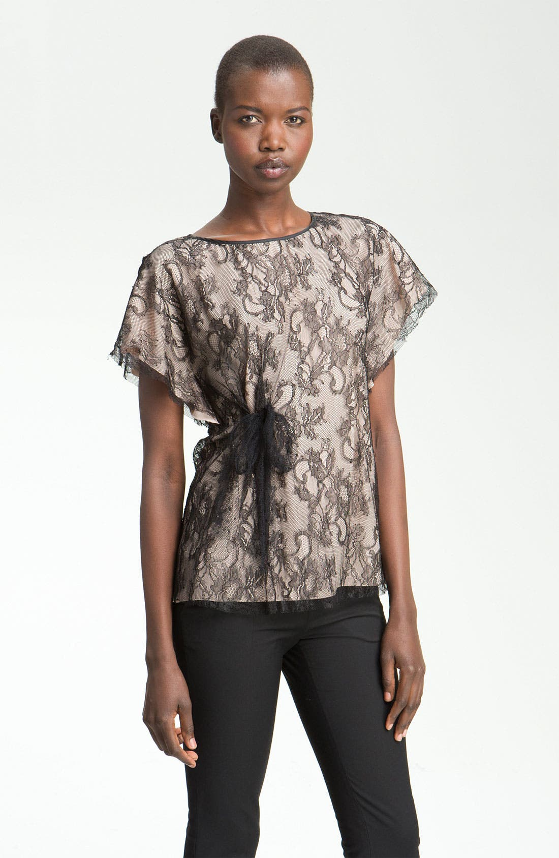 Main Image - RED Valentino Lace Overlay Blouse