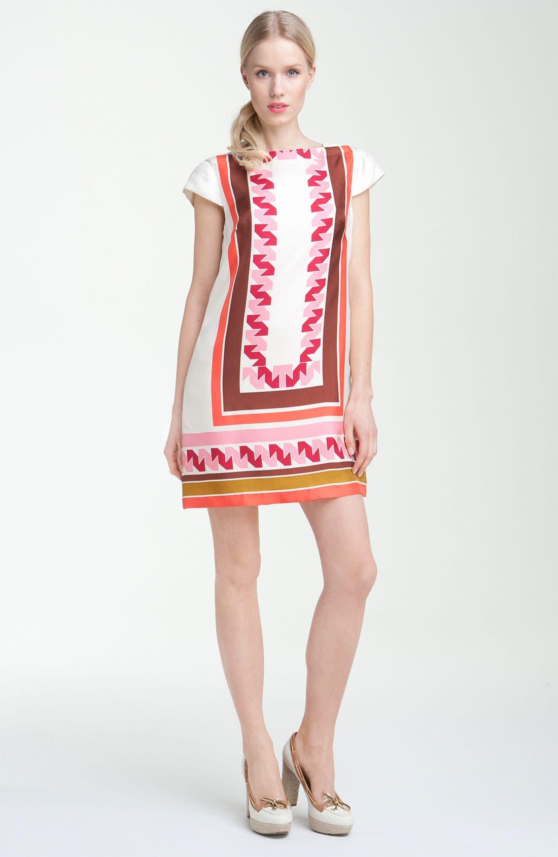Main Image - Milly 'Vivienne' Print Silk Shift Dress