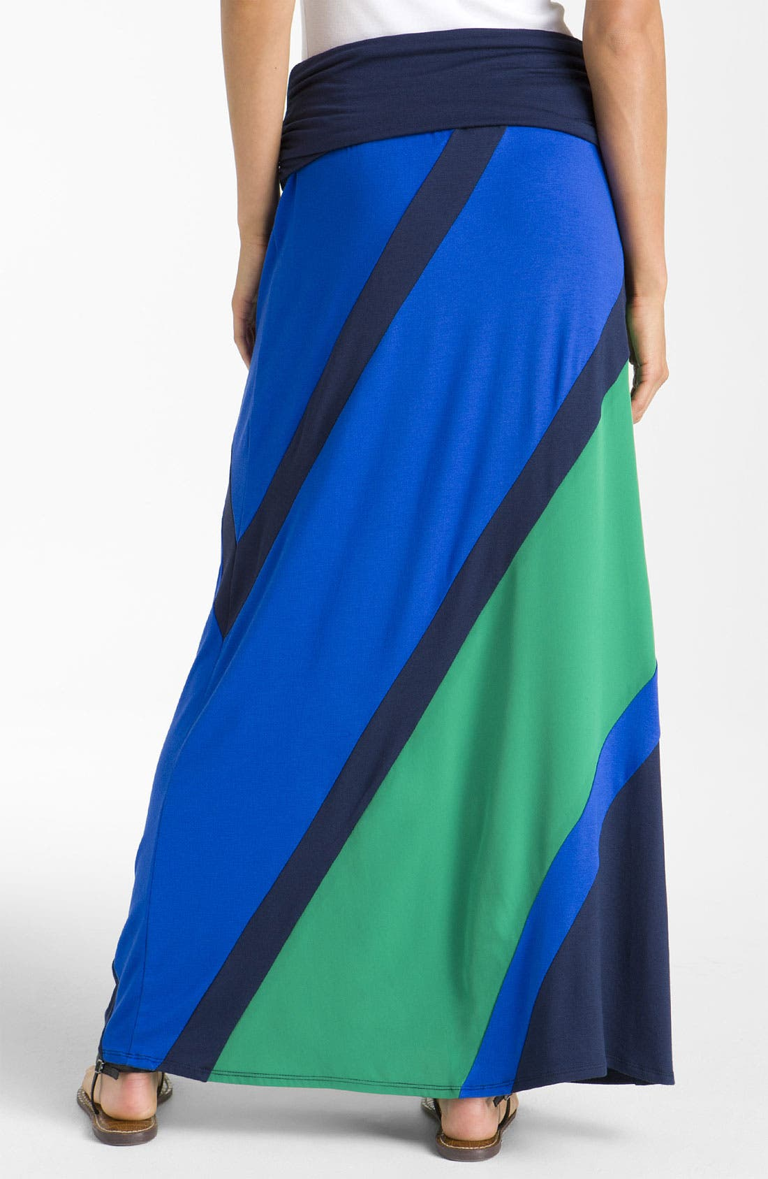 Alternate Image 2  - Olivia Moon Colorblock Maxi Skirt