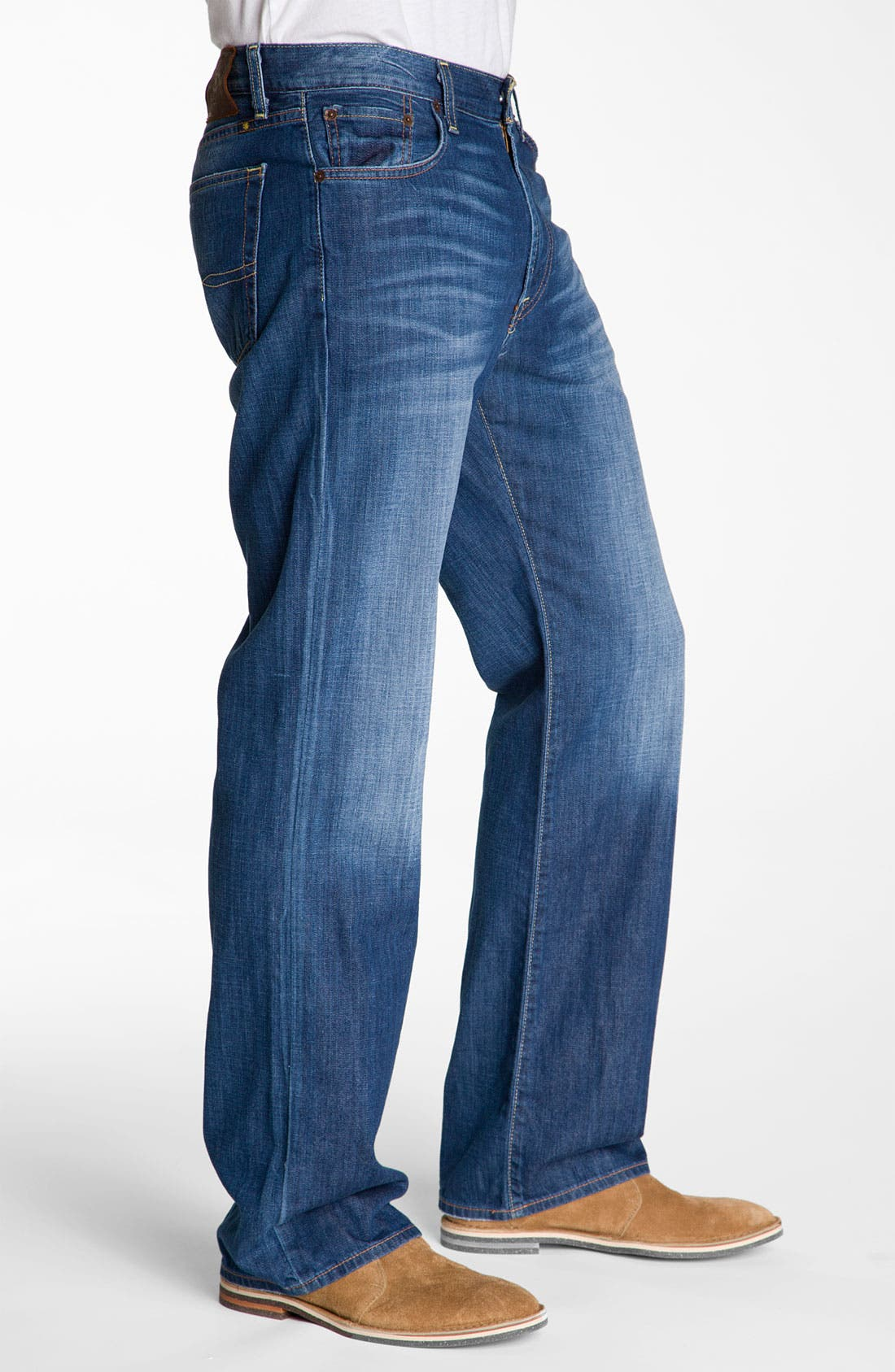 Alternate Image 3  - Lucky Brand Relaxed Straight Leg Jeans (Ol' Neptune)