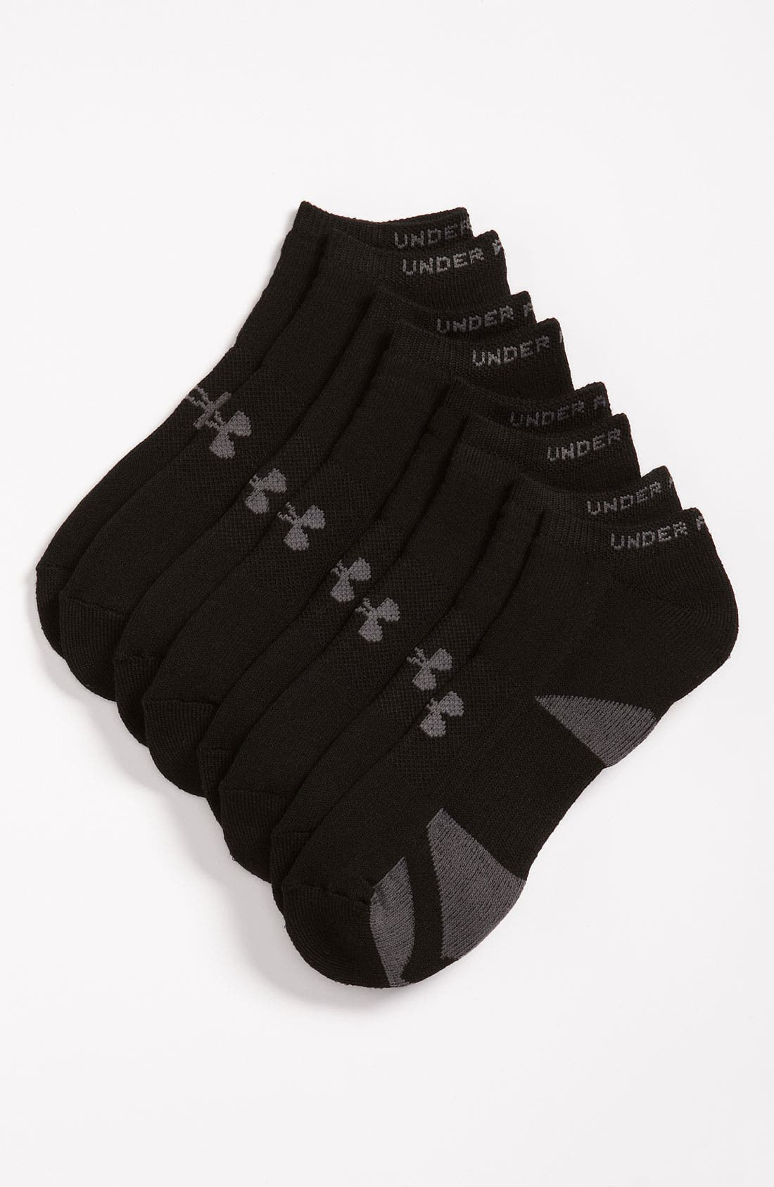 Main Image - Under Armour HeatGear® No-Show Socks (4-Pack) (Men)